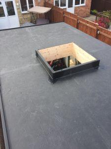 Roof Light on EPDM flat roof Newcastle
